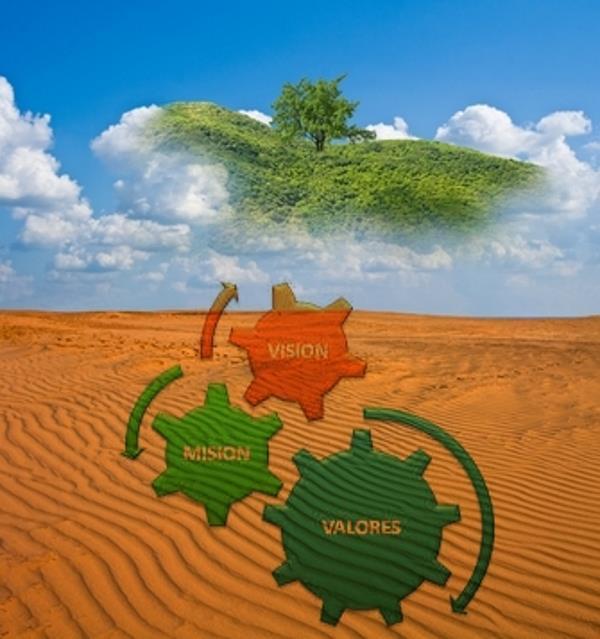 espejismo, desierto, engranajes