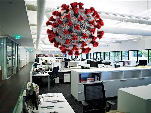Oficina vacía, coronavirus
