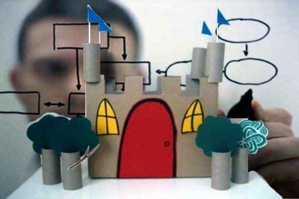 Proceso, diseño, castillo de cartón