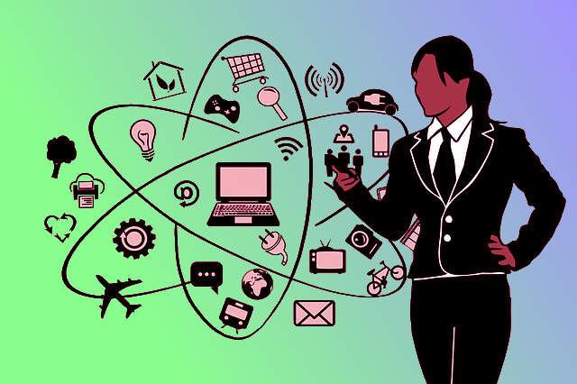 profesiones, ideas, persona con celular