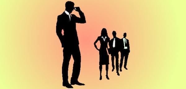 Siluetas de ejecutivos