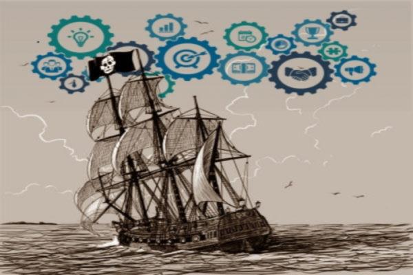 barco pirata, circuitos, engranajes, proyecto