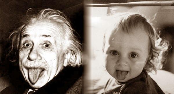 Einstein, comparación, bebé