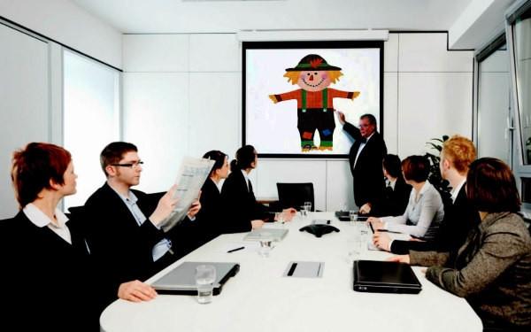 presentación, oficina, reunión