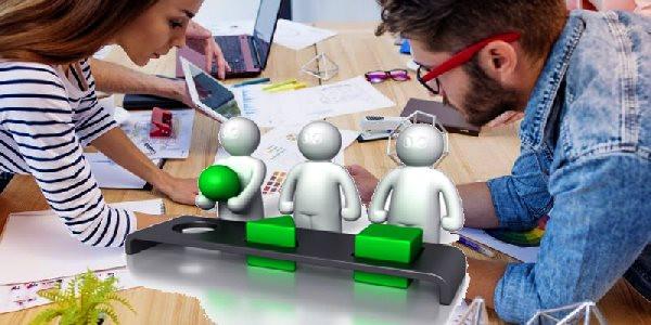gente trabajando, selección, proyectos