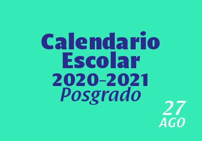 Calendario 2020- 2021 Posgrado