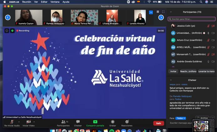 Fiesta virtual de fin de año