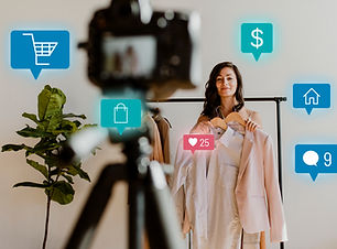 woman-live-streaming-for-online-shopping