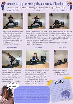 Increase leg strength, tone & Flexibilit
