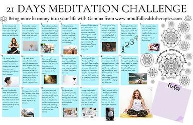 21 days Meditation planner Landscape Pos
