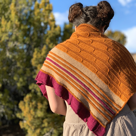 Armchair Travel Knit Kit 4: Feliz Shawl