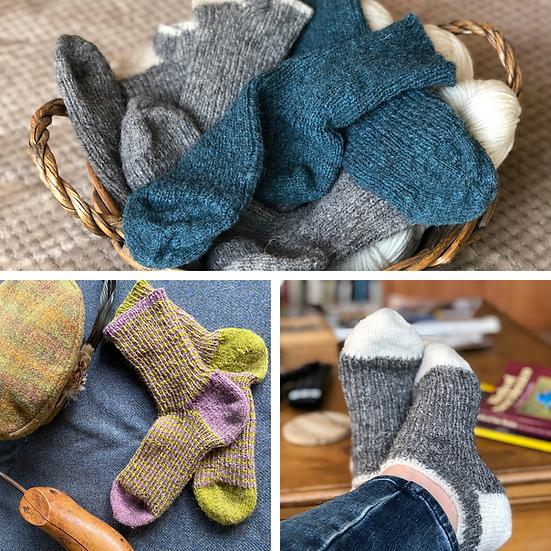 Hebridean Walking Socks (hardcopy pattern + download)