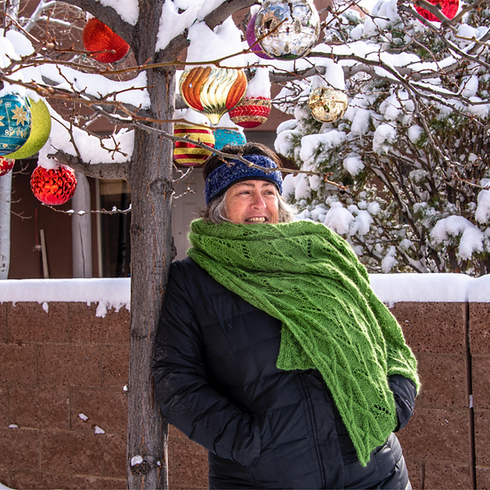 Armchair Travel Knit Kit 3: The Far Fields Shawl or Poncho