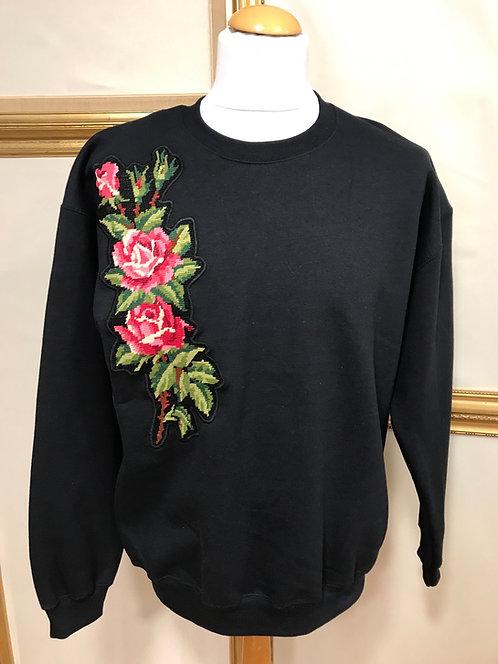 Sweatshirt à fleurs - T.L