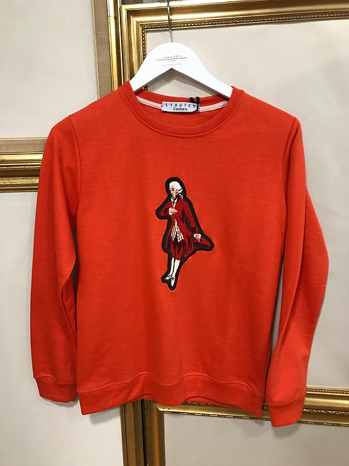 Sweatshirt orange - Marquis - T. S