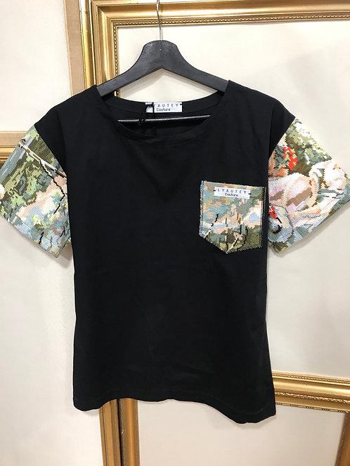 T-shirt à manches Canevas noir