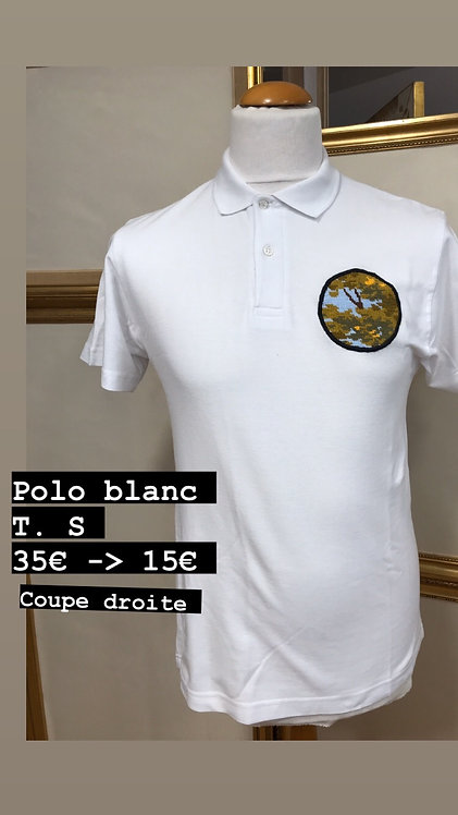 Polo blanc match rond T.S