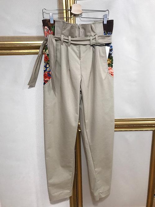 Pantalon taille haute - beige - T. 36