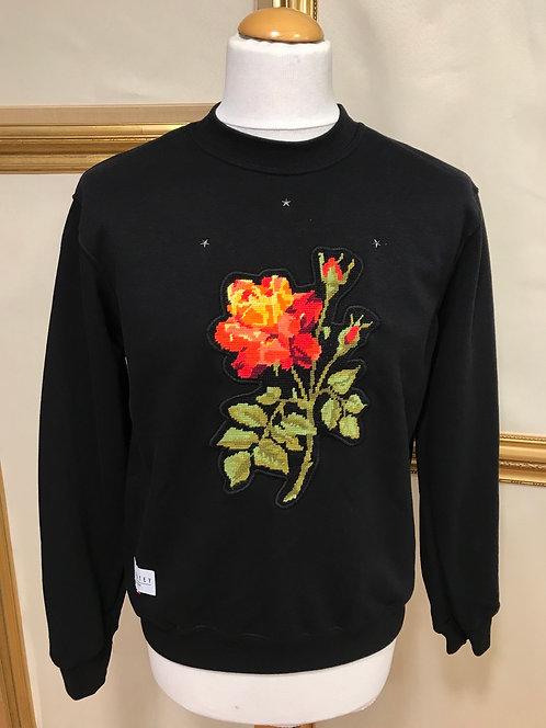 Sweatshirt à fleur