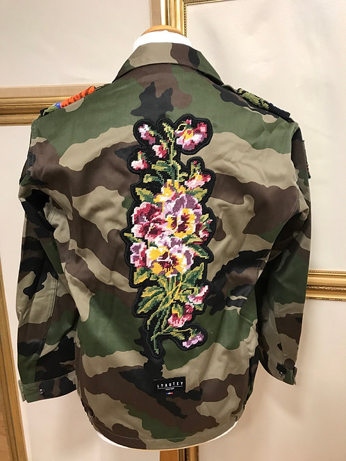 Veste militaire à fleurs - T. M