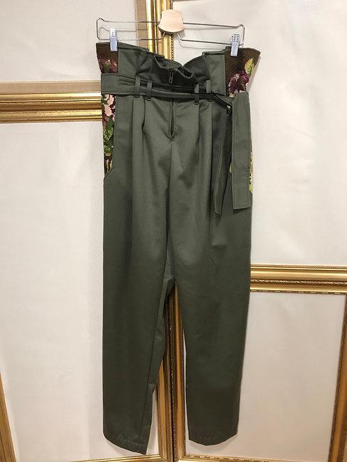 Pantalon taille haute - kaki - T. 38