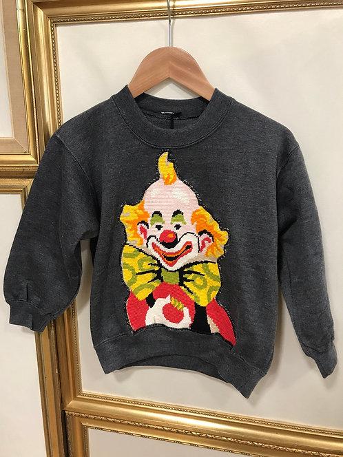 Sweatshirt clown 3 ans - Gris foncé