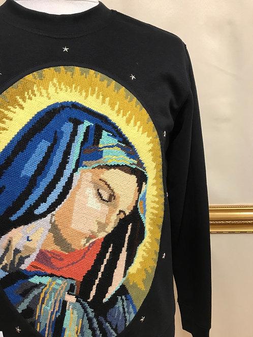 Sweatshirt - Vierge - noir