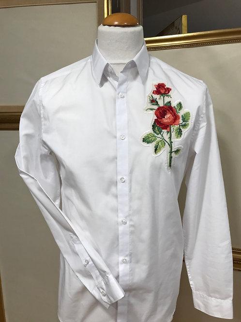 Chemise blanche - coton - T. M , coupe ajustée