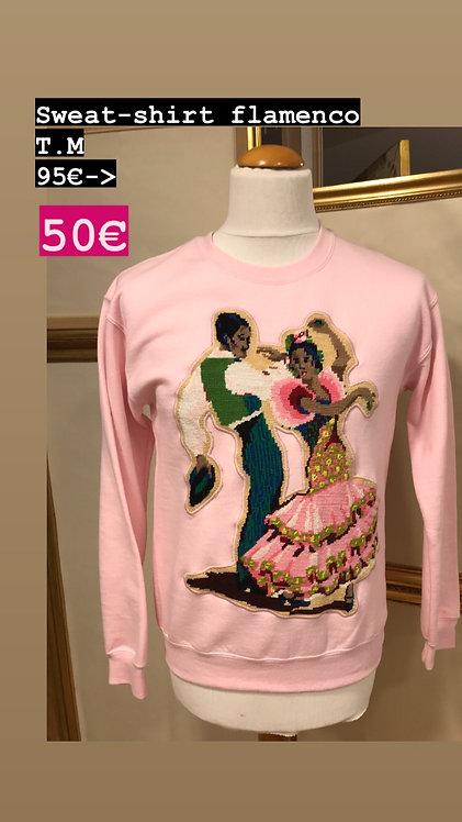 Sweatshirt rose - Flamenco - T.M
