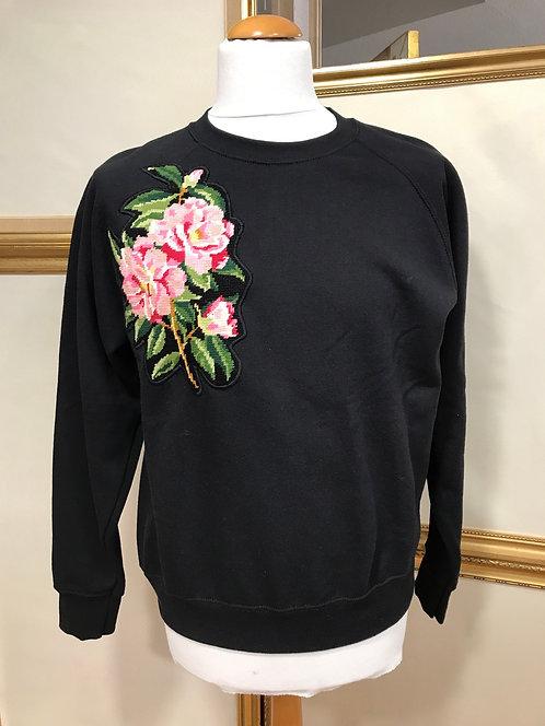 Sweatshirt à fleurs manches Ragland T.M