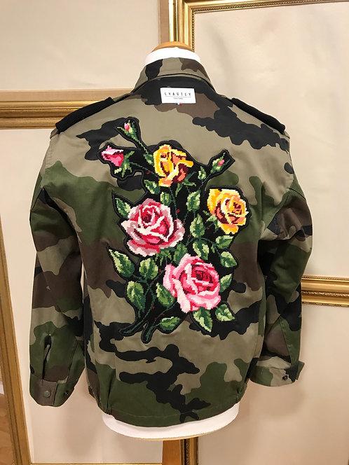 Veste militaire à fleurs - T. S