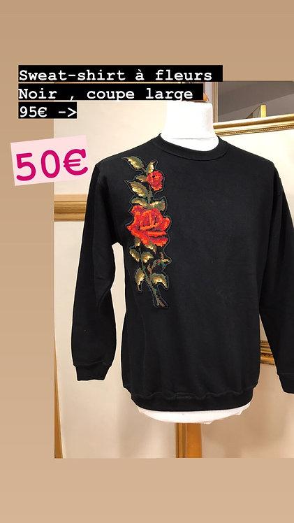 Sweatshirt à fleurs Noir T.M