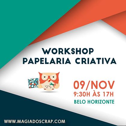 WORKSHOP PAPELARIA CRIATIVA - 09/11/2019
