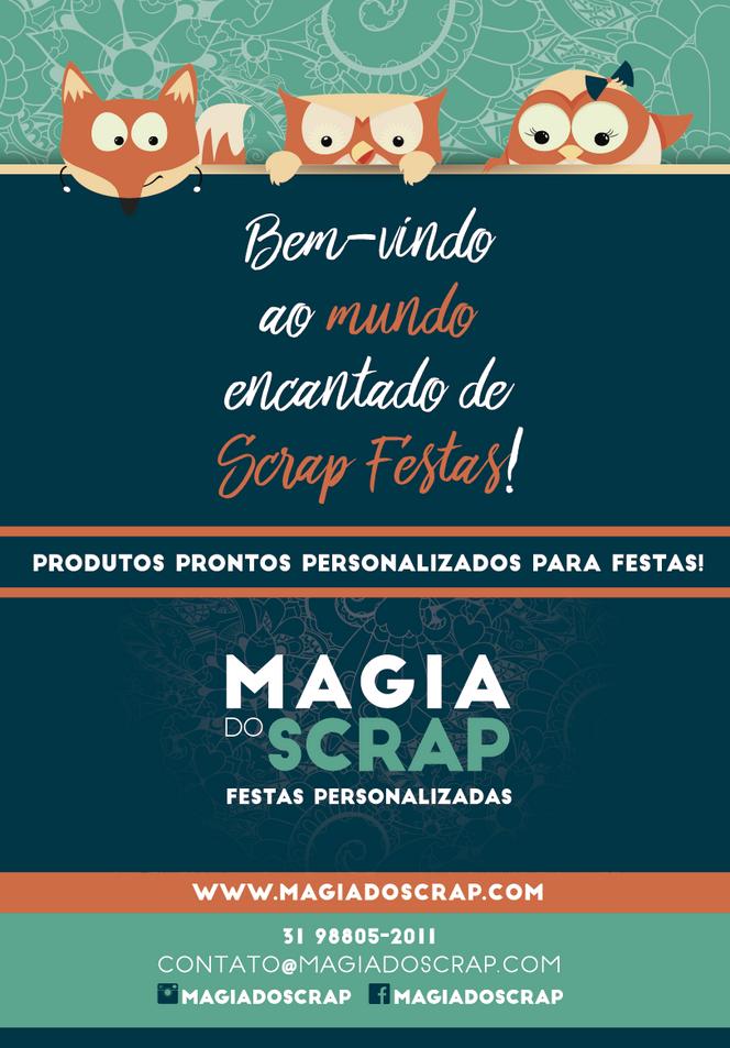 Magia do Scrap na feira Parques e Festas em São Paulo