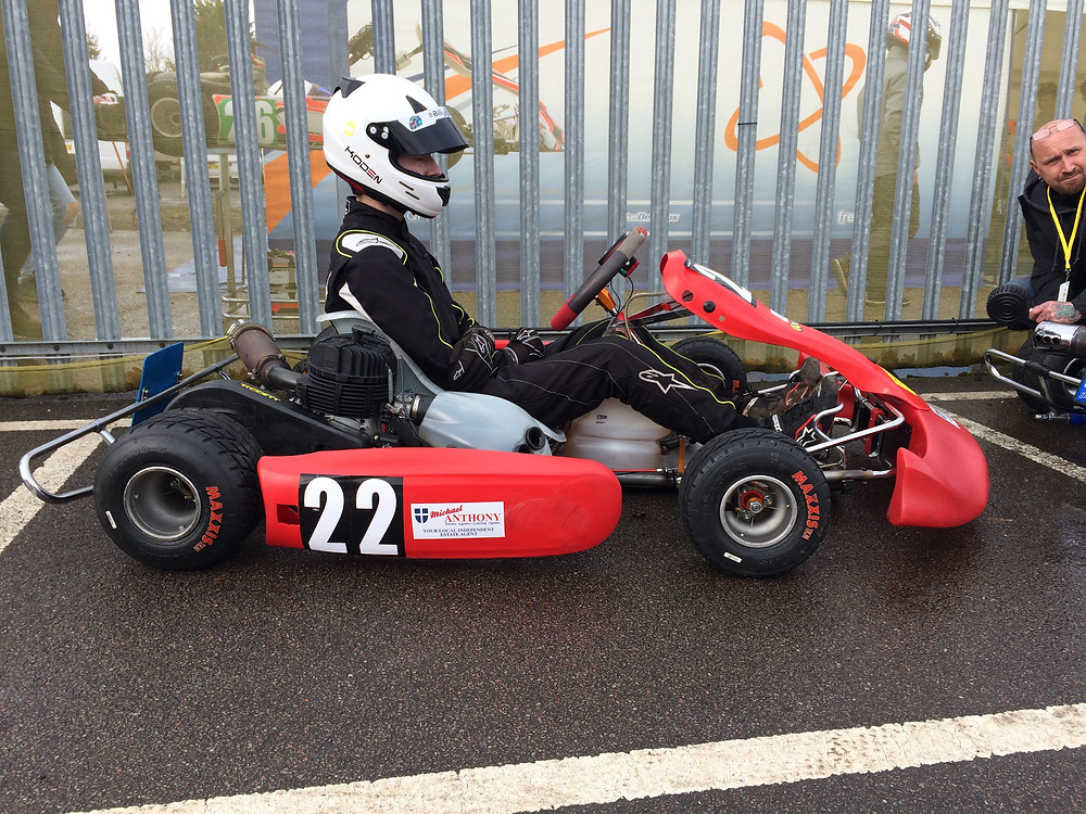 Back on track with Rob Sims, my Tyro karting mate.