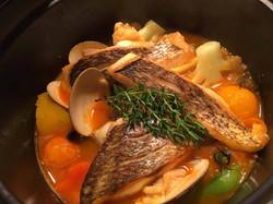 魚介と野菜のココット