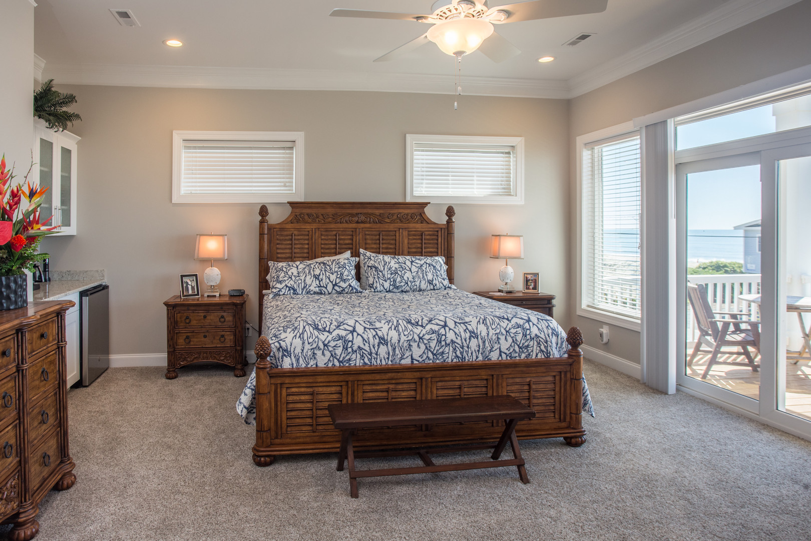 Master Bedroom with Ocean View in Surf City