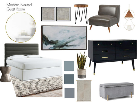 Client Recap: Guest Room and Office Mood Boards