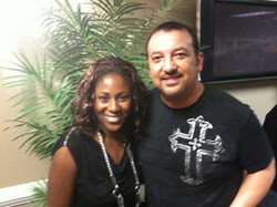 Sabina with Pastor Clint Brown