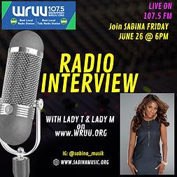 Sabina Radio Interview-107.5FM