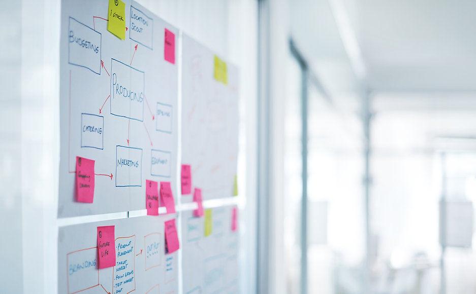 Fasilitointi auttaa ideoiden keruussa.