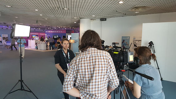 Television interviews at Cannes Festival