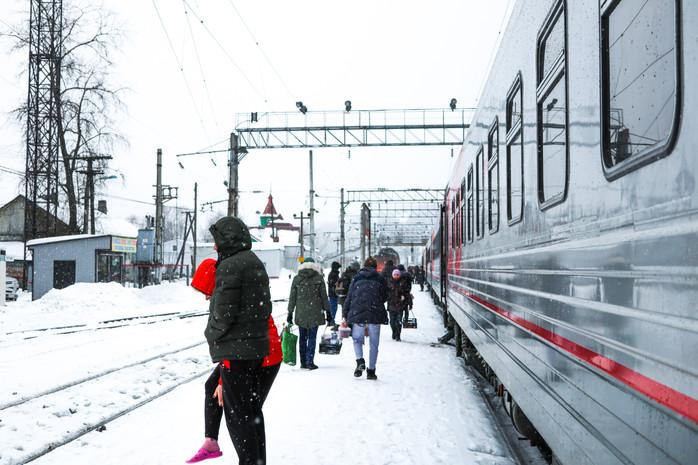 Im Zug von Moskau nach Murmansk
