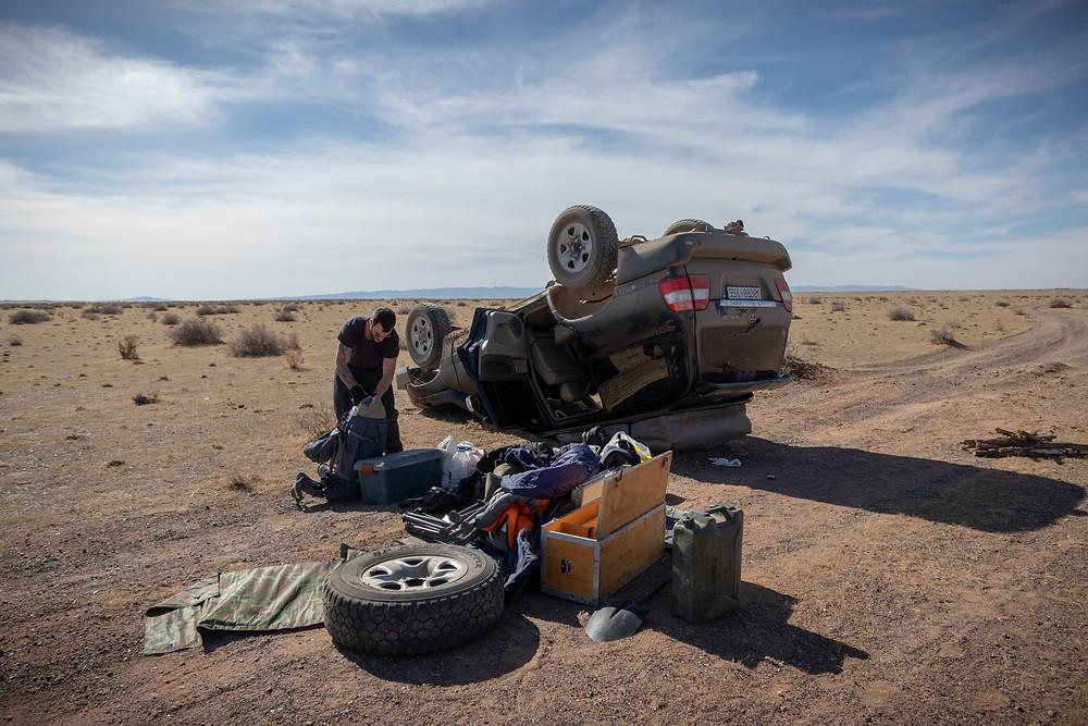 Unfall in der Mongolei