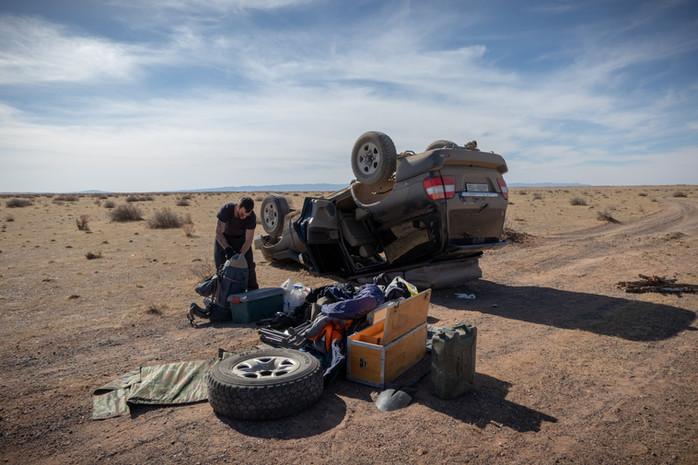 Salto Mortale vor der Wüste Gobi