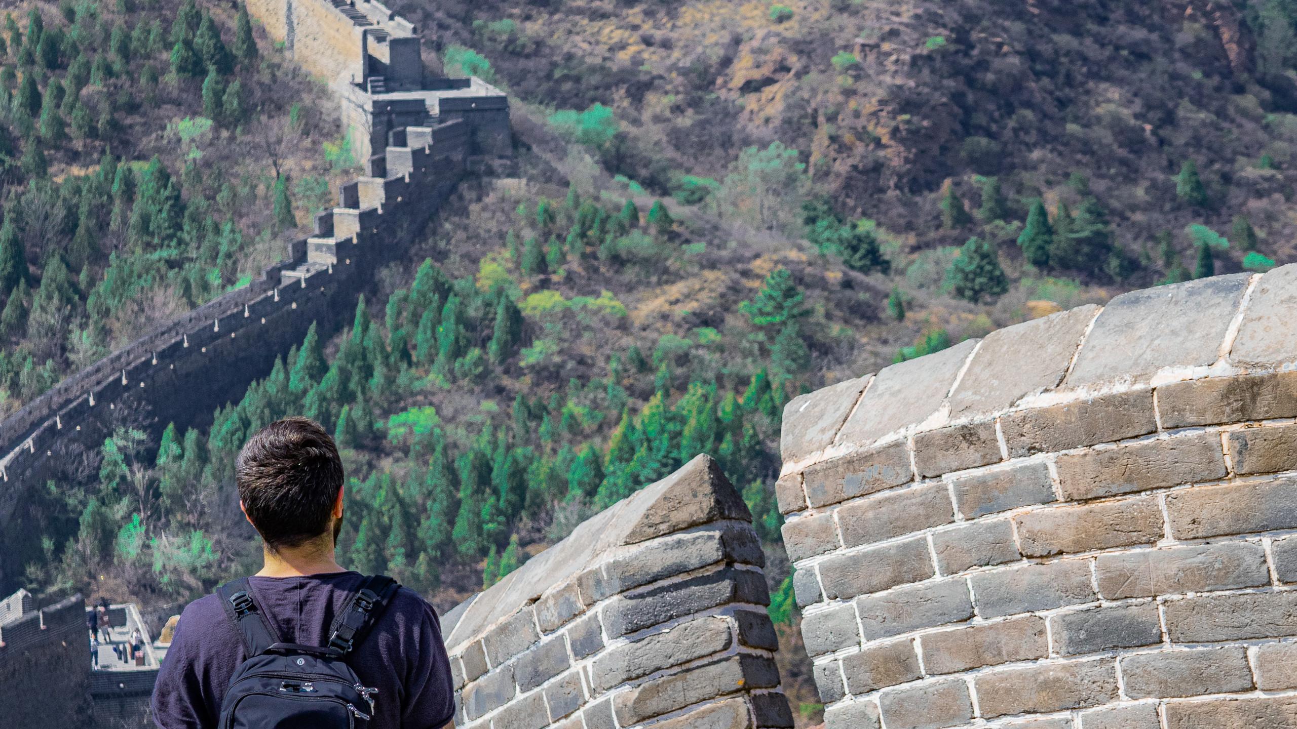 Chinesische Mauer in Jingshaling