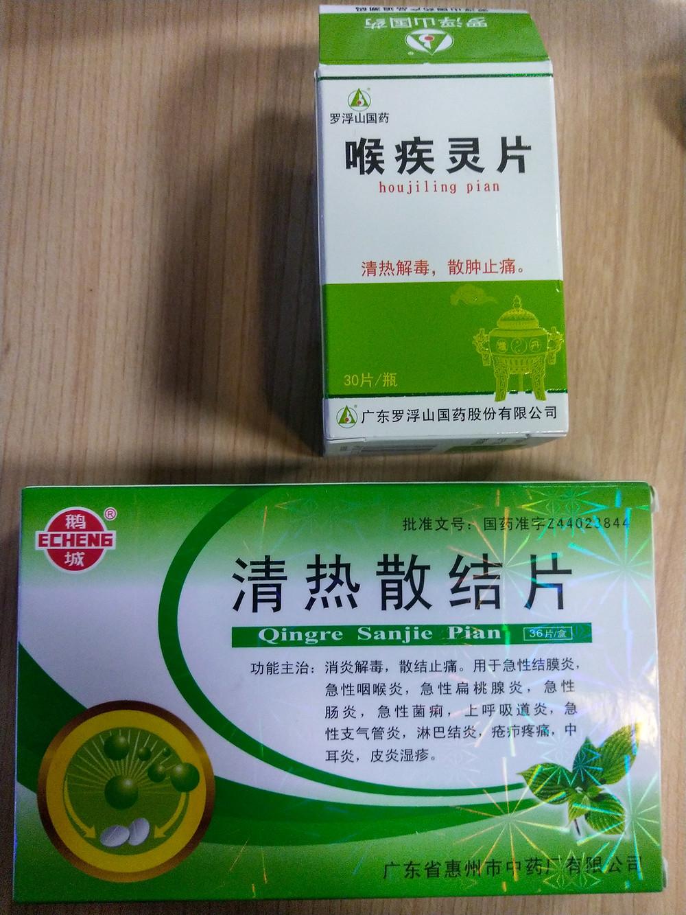 Chinesische Wurzel-Kräuter-Halsschmerz-Tabletten