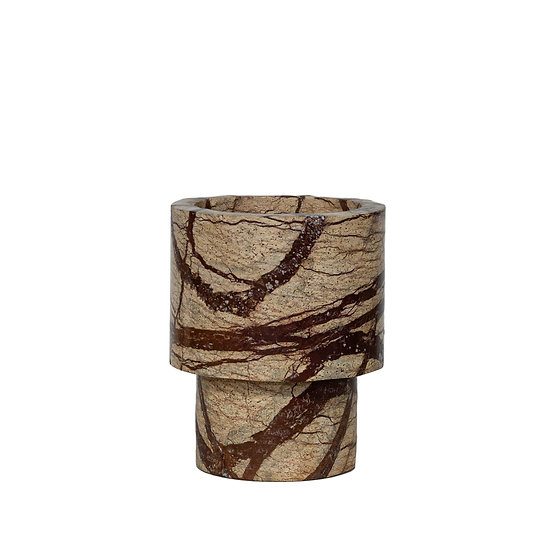 DOME DECO Vase Marble - Brown S