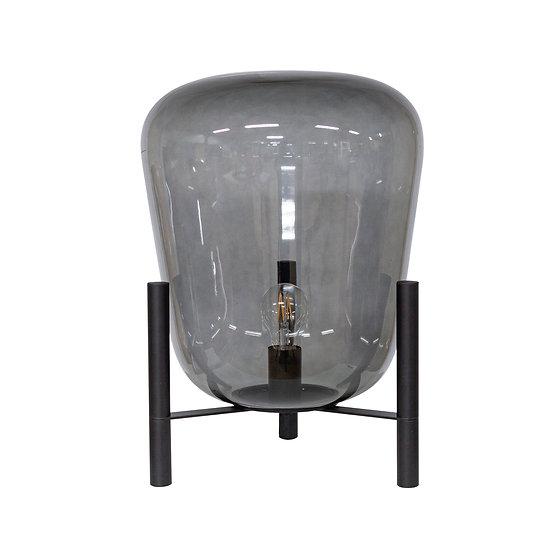 DOME DECO Tischleuchte Glas mit Metallsockel