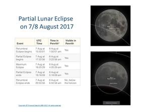Partial Lunar Eclipse on 7/8 August 2017
